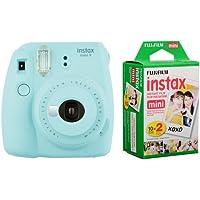 Fujifilm instax Mini 9 +20'li Film+Askı (Açık mavi)