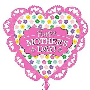 amscan 3486401 - Globo de Papel de Aluminio con Forma de corazón intrincado para el día de la Madre (Talla XL)