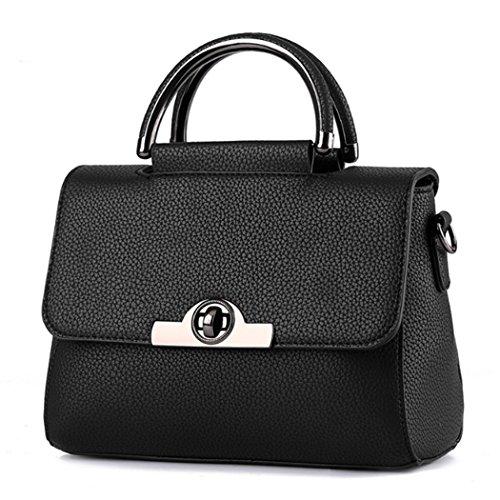 Borsa della borsa della borsa di Tote del sacchetto di spalla della nuova borsa delle donne Nero