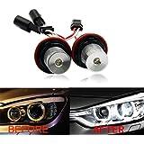 Ganar energía 5W CREE LED Angel Eyes halo ring Light Marker Bombillas canbus no error Xenon Blanco 6000K para BMW E39E60E63E64X5