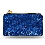 Lady Donovan - Clutch - Edle Abendtasche für Damen und Mädchen - Portemonnaie mit Reißverschluß - ideal für die Party oder Hochzeit - glitzernd - Royalblau