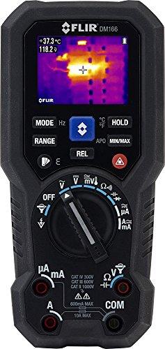 FLIR dm166imágenes térmicas multímetro TRMS con igm, color negro