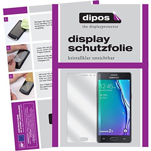 dipos I 6X Schutzfolie klar passend für Samsung Z3 Folie Bildschirmschutzfolie
