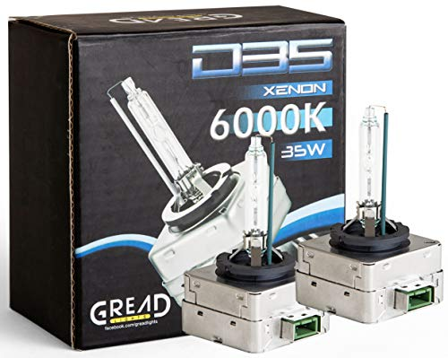 Gread - 2 D3S Xenon Brenner - 6000k 35W - passgenau und lange Lebensdauer white -