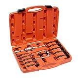 Extractores de cojinete interior de 16 piezas – juego de extractor de martillo deslizante y kit de extractor de rodamiento de rueda en forma de U kit de eliminación de martillo resbaladizo