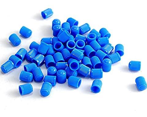 20 Plastic Tyre Valve Dust Caps BLUE