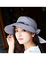 Sombreros La Ni?a de sombrero de paja de verano La sombrilla Sunscreen Beachside Cap Los sombreros de ala ancha amplia