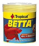 Tropical Betta Flockenfutter für Kampffische, 50 ml