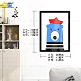 Hongrun 3D-Acryl Wandhalterung An Der Wand Im Wohnzimmer Esszimmer Schlafzimmer Cartoon Kinder Kreativ Dekorative Rahmen, D, 40 * 30 Cm