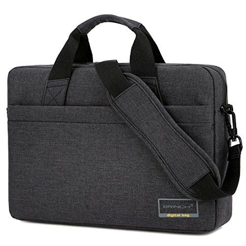 Brinch Maletín de portátil de 15.6 Pulgadas Estilo de Negocios para Ordenador portátil con Funda de Espuma para Ordenador portátil de 15-15.6 Pulgadas/Ordenador portátil/MacBook,Negro