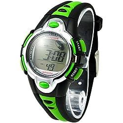 ETOWS® Kids Watches Flash Lights 50m Waterproof Chronograph Digital Sports Watch - Green