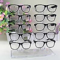 Charminar 10 Coppie Occhiali Da Sole Display Stare in Piedi Bicchieri Conservazione Acrilico