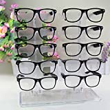 Charminer 10 Pair Acrylic Clear Sunglasses Glasses Display Rack Counter Show Stand Useful by...
