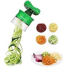 Sedhoom Spiralschneider Hand für Gemüsespaghetti Gemüsehobel für Karotte, Gurke, Kartoffel, Kürbis, Zucchini