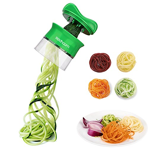Sedhoom Spiralschneider für Gemüsespaghetti Salat Finger