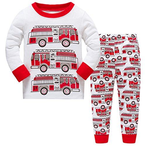 Hugbug pigiami lungo bambino cotone stampa camion 6 anni