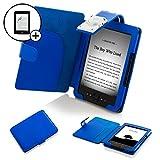 Forefront Cases Leder-Schutzhülle mit LED-Leselampe und Displayschutzfolie, für Amazon Kindle 4, Blau blau blau Kindle 4