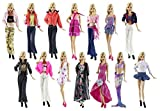 barwaâ ® Random Style 5Sets Fashion Casual Wear Clothes Damen/Outfit with 10Pair Shoes for Barbie Doll Xmas Gift