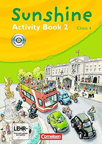 Sunshine - Bisherige allgemeine Ausgabe / Band 2: 4. Schuljahr - Activity Book mit CD-Extra,