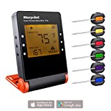 Food Thermomter, Morpilot APP Control Long Range Digital Wireless Meat Thermometer�Instant Read with 6 Probe Great for BBQ, Smoker, Grill, Food and Oven�and all Kitchen Cooking