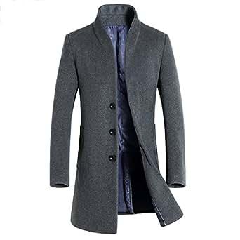 ipretty herren winterjacke mantel lange wolljacke m nner slim fit wintermantel trenchcoat parka. Black Bedroom Furniture Sets. Home Design Ideas