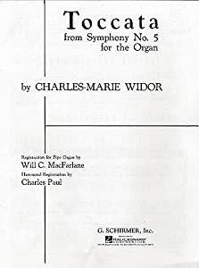 Charles Widor: Toccata (Symphony No.5 For Organ) - Sheet Music