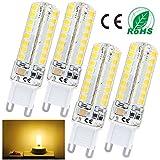 Liqoo® Lámpara 4x G9 6W LED 480Lumen Reemplaza 45W lámparas lámpara ahorro de energía Sustituye 3000K blanco cálido, blanco frío 6000K, Ø16 x 60mm, 72x SMD 2835, AC220-240V 360