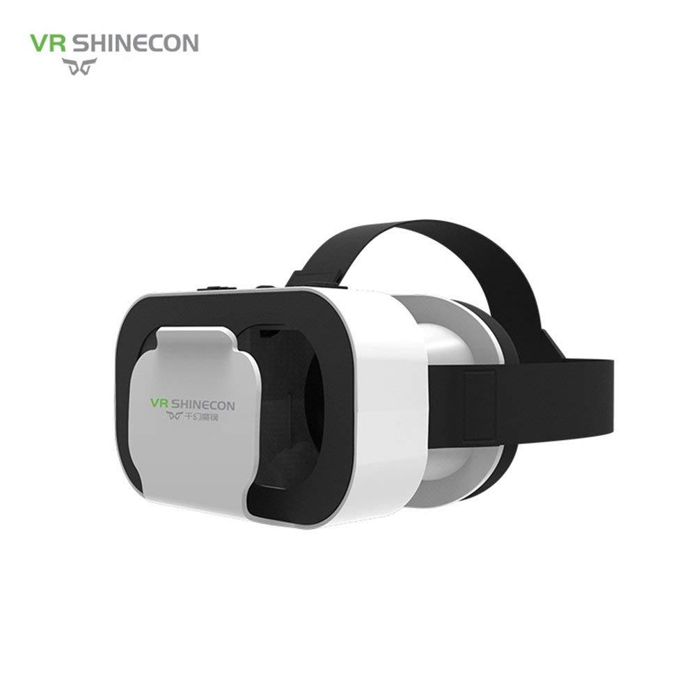 Binghotfire-shinecon-Casque-de-Lunettes-VR-de-ralit-virtuelle-VR-Box-pour-47–60-Pouces-Smartphone-Blanc