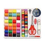 lzn 100 Stück Nähgarn Set Needlework Box Sewing Tools Kit Boxen Nähset für zu Hause Nähmaschine