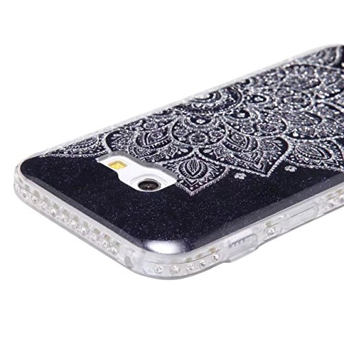 Bling Sparkle Glitter Rhinestone Resin Diamant Schützende Rückseite Cover Case Soft TPU Shell Stoßfänger [Shock Absorbtion] für Samsung Galaxy A3 2017 ( Color : E ) E