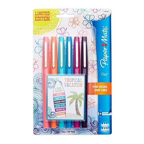 paper-mate-flair-medium-felt-tip-pens-6-pkg-tropical-vacation