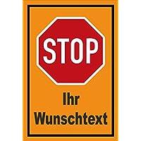 Schild 15x10cm mit Bohrl/öchern Privat Halt Stop S00357-006-C +++ in 20 Varianten erh/ältlich stabile 3mm starke Aluminiumverbundplatte