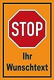 Schild - Stop - Halt - Ihr Wunschtext – 30x20cm mit Bohrlöchern | stabile 3mm starke PVC Hartschaumplatte – S00357-001-E +++ in 20 Varianten erhältlich