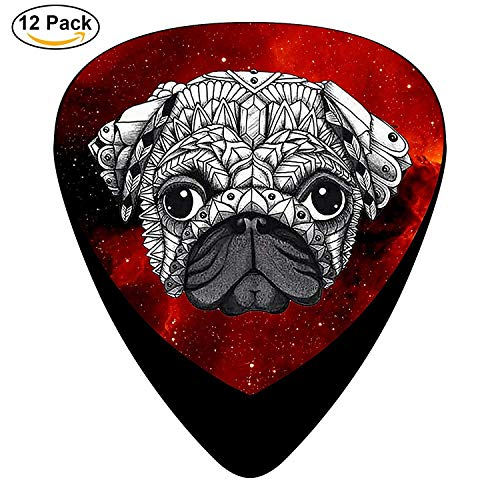 Armor Design Pug Celluloid Electric Guitar Picks 12-pack Plectrums For Bass Music Tool -