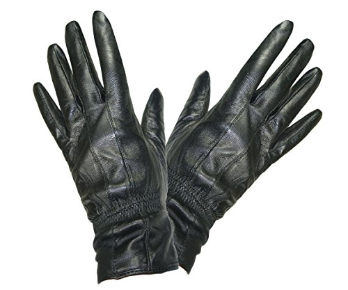 Damen Abend Handschuhe (Pariella TM weich und geschmeidig DAMEN QUALITÄT schwarze Lederhandschuhe-L)