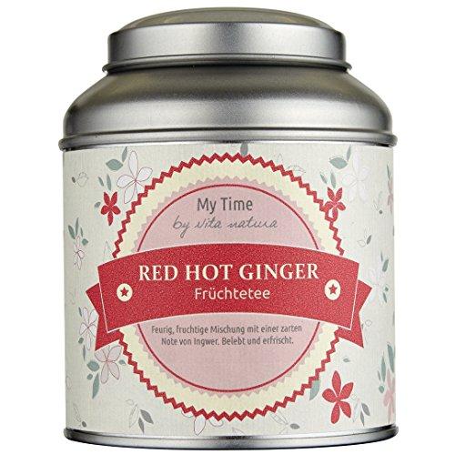 MY TIME – Red Hot Ginger Tee 120 g lose | Feurig, fruchtige Teemischung mit einer zarten Note von Ingwer | Belebend und erfrischend