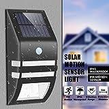 KINGSO Solar Lampen Wandleuchte LED Bewegungsmelder Beleuchtung Sensor Licht wasserdicht Sicherheitswandleuchte solarbetriebene Außenleuchte Wandleuchte für Garten Zaun Terrasse Garten Treppen