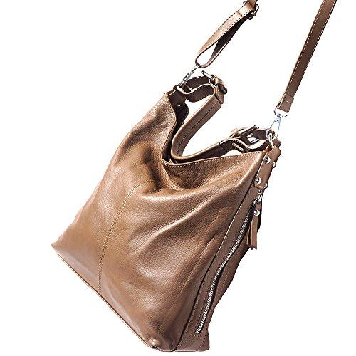 Hobo Bag Con Manico Rimovibile E Tracolla Staccabile 3013 Taupe