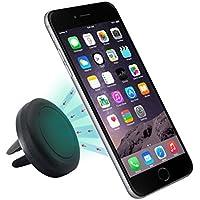 Superideal Air magnético Soporte de Télefono para Coche de Smartphone para iPhone 6 / 6 Plus / 5 / 5S / 5C / 4 / 4S, Samsung Galaxy S6 / S5 / S4 / Note 4/3, Google Nexus, LG G3 y dispositivo GPS (Negro)