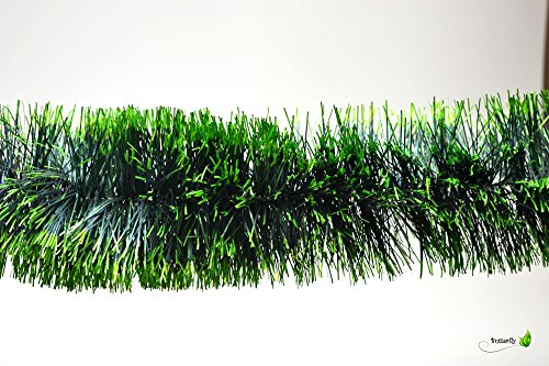 3m Grasgirlande Ø 10cm grün mit hellgrünen Spitzen / Tannengirlande Weihnachtsgirlande Girlande Weinachten Christbaumschmuck Tanne Gras Deko Festzeltgirlande Hochzeit 100mm