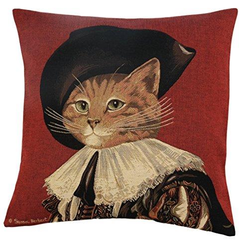 Elegante Copricuscino, Cuscino decorativo cellulare 46x 46cm Susan Herbert-d' Artagnan Red, Set Cushion