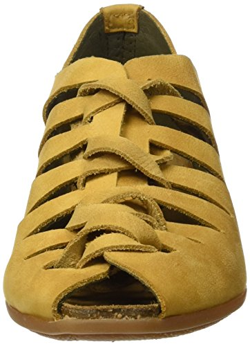 El Naturalista Nd52 Pleasant Stella, Sandali Open Toe Donna Giallo (Curry)