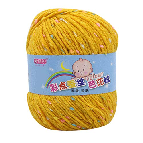 LCLrute 50g Hand Stricken Knicker Garn häkeln weiche Schal Pullover Hut Garn Strickwolle Stricken und Häkeln Babywolle (F) -