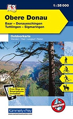 K&F Deutschland Outdoorkarte 53 Obere Donau 1 : 35 000: Baar - Donaueschingen - Tuttlingen - Sigmaringen (Kümmerly+Frey Outdoorkarten Deutschland, Band 947)
