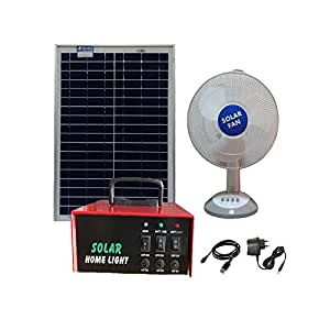 Solar Fan rechargeable dc 12v with mobile charger and Solar Power Box, 30W Solar Panel (2 x 15W) and Electric Charger. USB Output for Mobile Charging.Portable UPS with in-built battery & solar controller