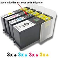 12 (3xBlack,3xCyan,3xMagenta,3xYellow) ink cartridges replace to Lexmark 100 100XL 108XL Compatible with S301 S305 S405 S505 S605 S308 S408 S508 S608S815 S816 Pro205 Pro705 Pro805 Pro905 Pro208 Pro708 Pro808 Pro908 Pro901
