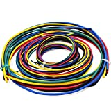 WiMas 55M Assortiment Thermorétractable Tuyauterie 11 Tailles 6 Couleurs Isolation Tube Gaine Pack