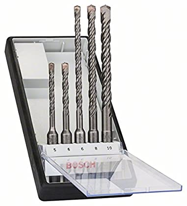 Bosch 2 607 019 927 - Juego de 5 brocas para martillos perforadores Robust Line SDS-plus-5 - Ø 5,6 x 115mm, 6,8,10 x 165mm (pack de 5)