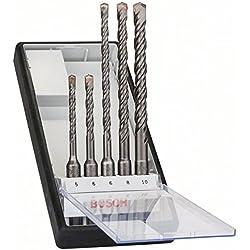 1 de Bosch 2 607 019 927 - Juego de 5 brocas para martillos perforadores Robust Line SDS-plus-5 - Ø 5,6 x 115mm, 6,8,10 x 165mm (pack de 5)