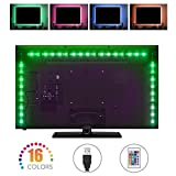 LED-TV-Hintergrundbeleuchtung led-Stripes, Sunnest led Stripes 2m(4Stück 50cm)USB led Strip led tv...